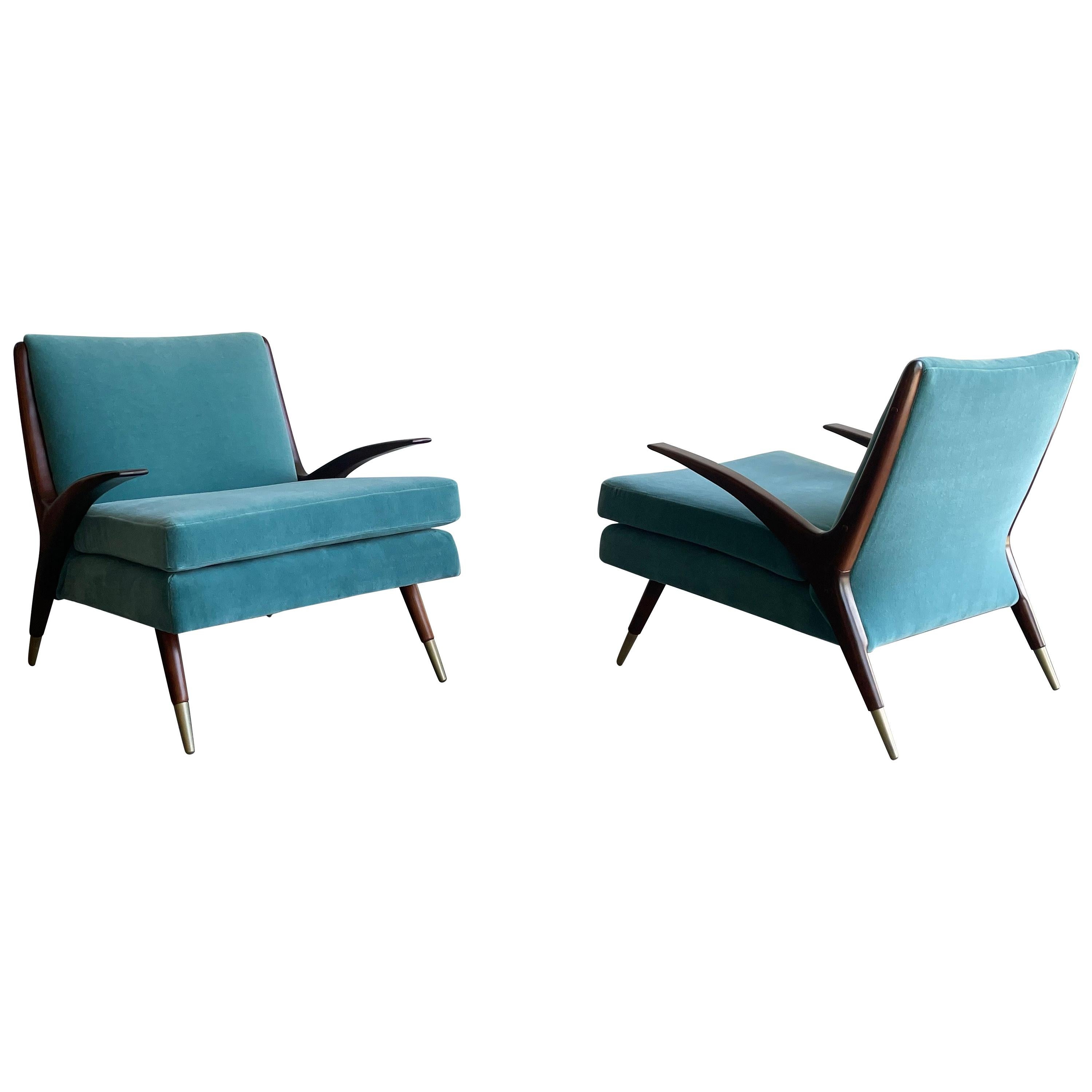 Karpen of California Modernist Lounge Chairs