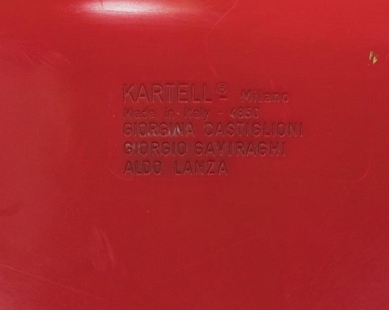 Plastic Kartell 4850 Castiglioni Chair For Sale