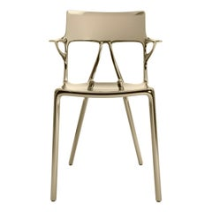 Kartell AI Chair in Bronze Created by Artificial Intelligence