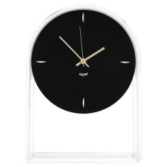 Kartell Air Du Temps  Table Clock in Crystal Black by Eugeni Quitllet
