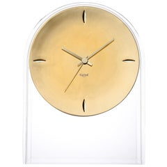 Kartell Air Du Temps  Table Clock in Crystal Gold by Eugeni Quitllet