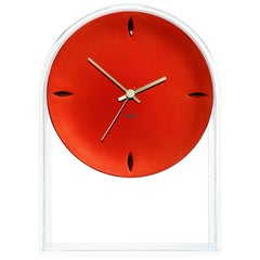 Kartell Air Du Temps  Table Clock in Crystal Red by Eugeni Quitllet