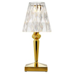 Kartell Battery Lamps in Metallic Gold by Ferruccio Laviani