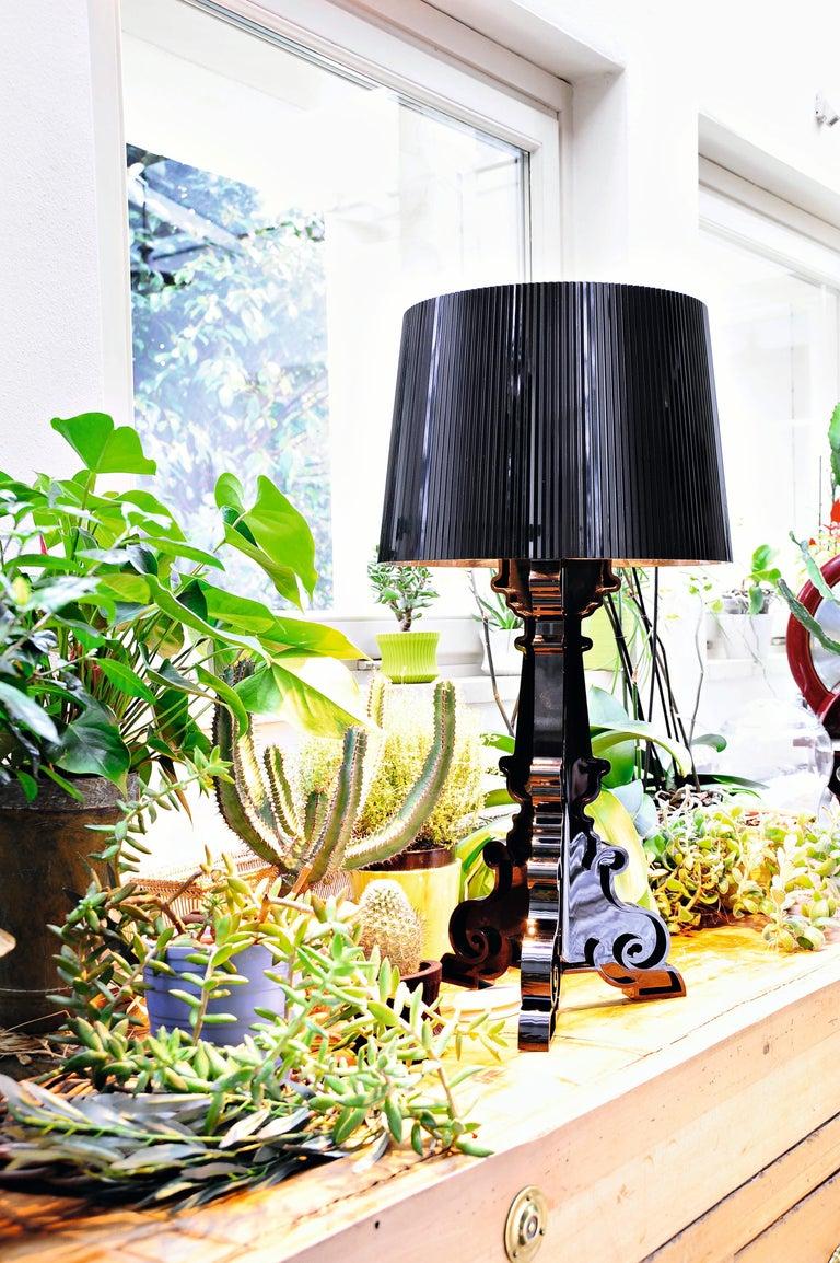 Italian Kartell Bourgie Lamp in Glossy Black by Ferruccio Laviani For Sale