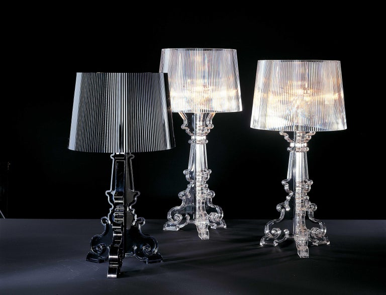 Plastic Kartell Bourgie Lamp in Glossy Black by Ferruccio Laviani For Sale