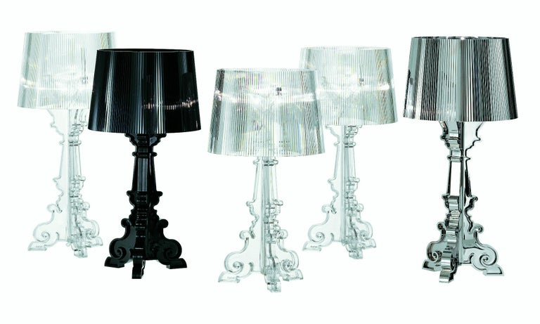 Kartell Bourgie Lamp in Glossy Black by Ferruccio Laviani For Sale 1