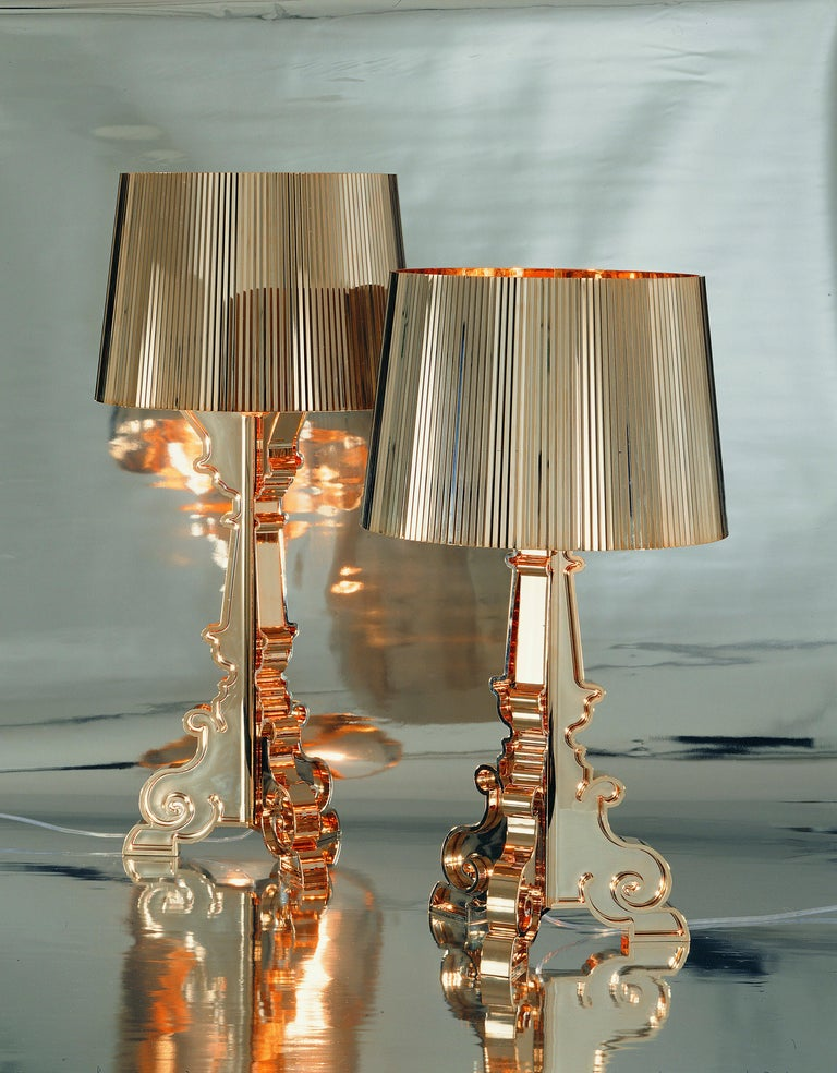 Contemporary Kartell Bourgie Lamp in Gold by Ferruccio Laviani For Sale