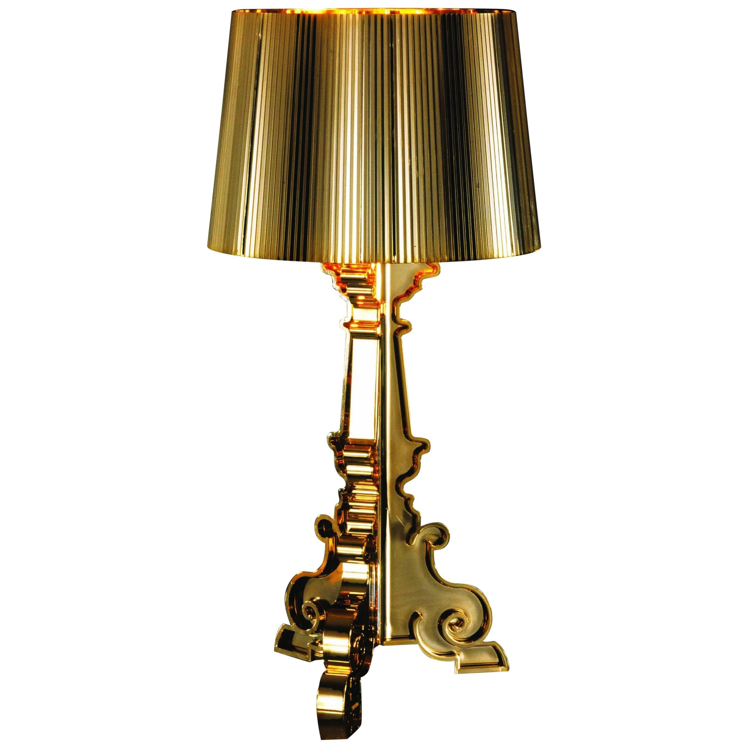Kartell Bourgie Lamp in Gold by Ferruccio Laviani