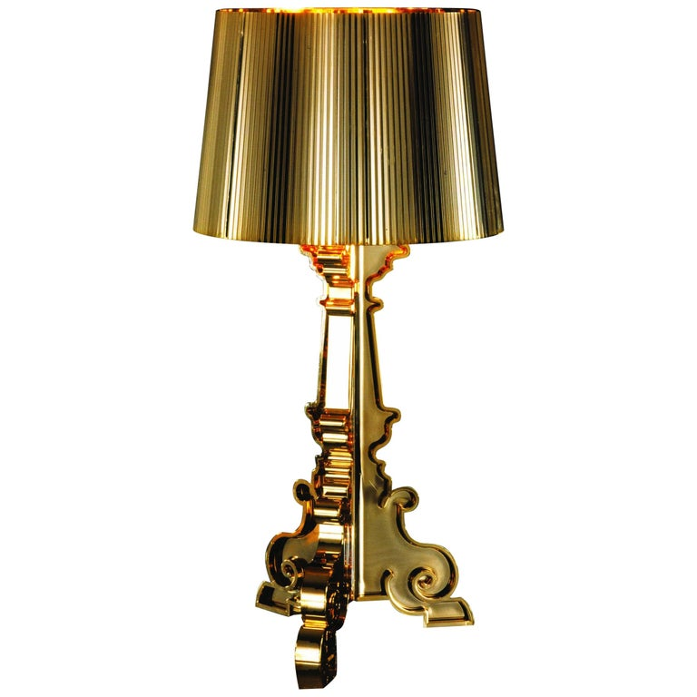 Kartell Bourgie Lamp in Gold by Ferruccio Laviani For Sale