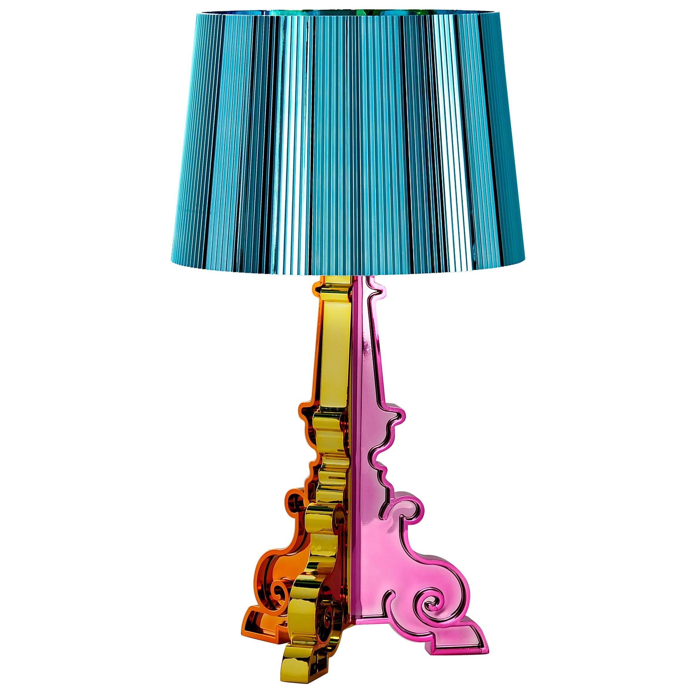 Kartell Bourgie Lamp in Multicolored Blue by Ferruccio Laviani