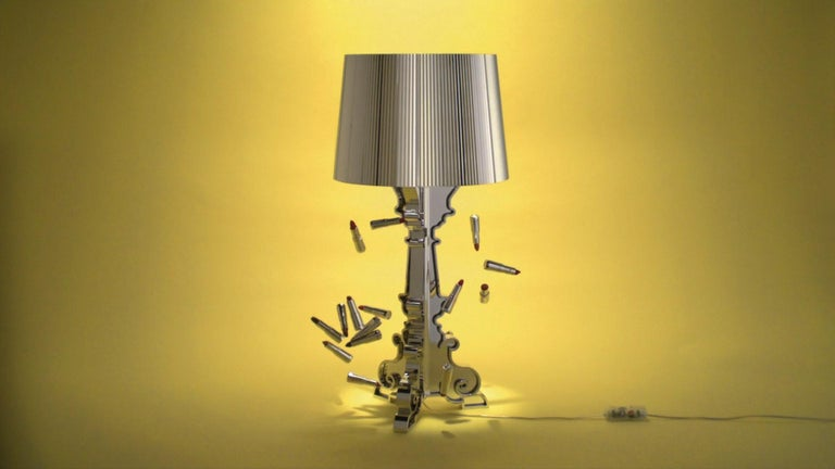 Modern Kartell Bourgie Lamp in Silver by Ferruccio Laviani For Sale
