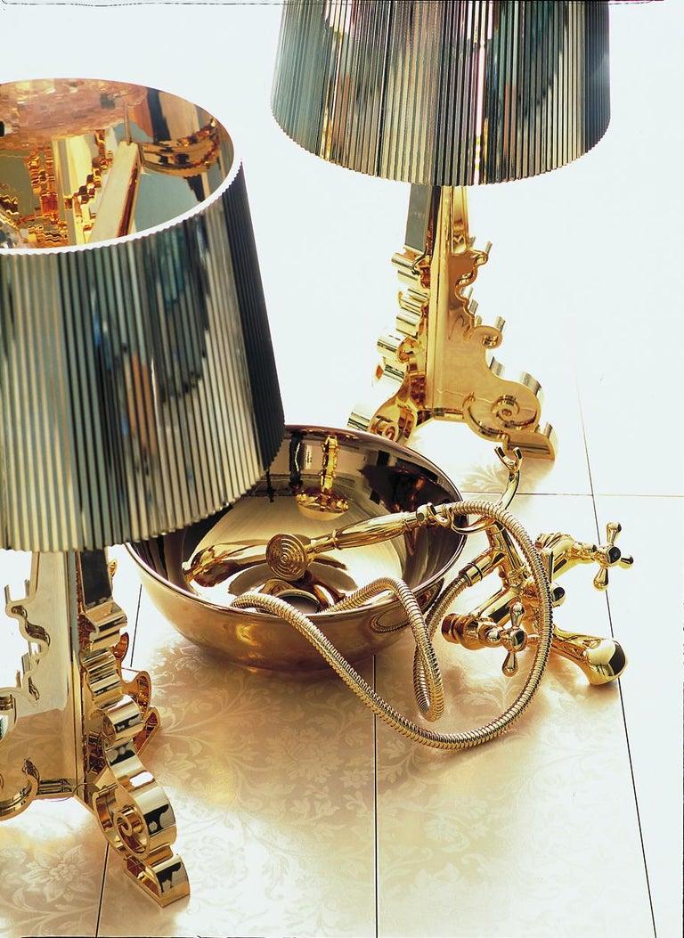 Italian Kartell Bourgie Lamp in Silver by Ferruccio Laviani For Sale