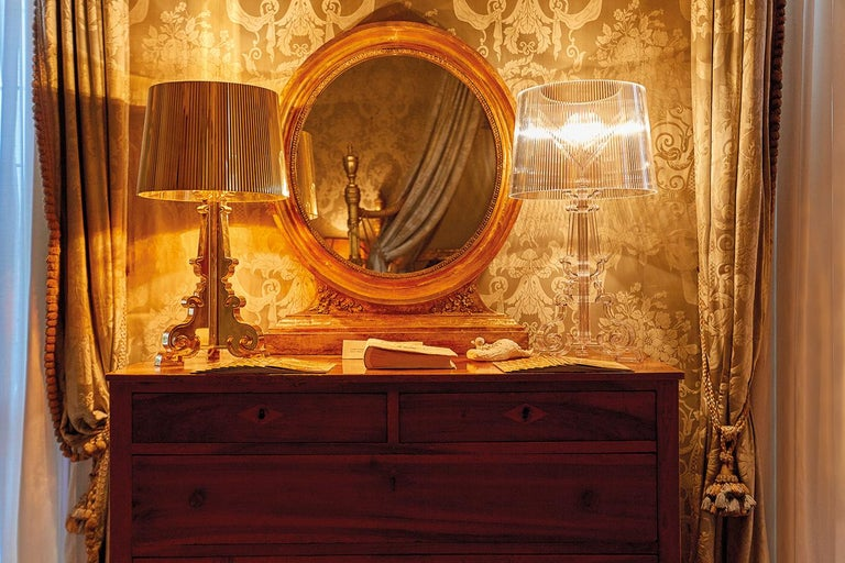 Contemporary Kartell Bourgie Lamp in Silver by Ferruccio Laviani For Sale