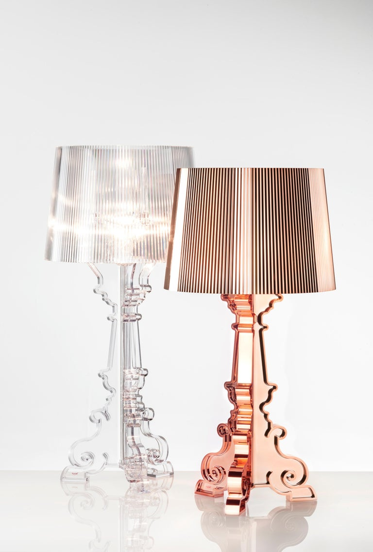 Kartell Bourgie Lamp in Silver by Ferruccio Laviani For Sale 1