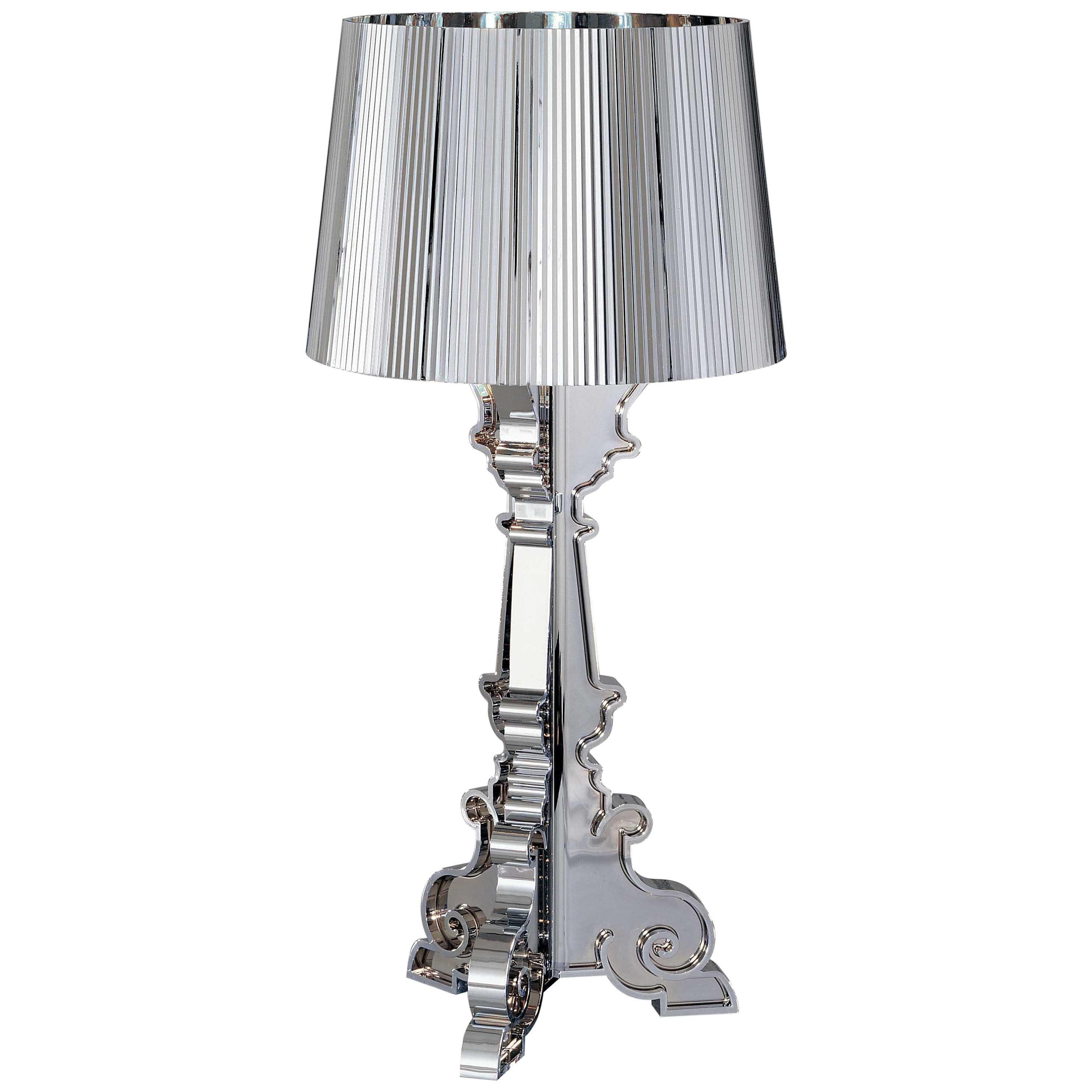 Kartell Bourgie Lamp in Silver by Ferruccio Laviani