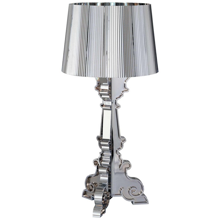 Kartell Bourgie Lamp in Silver by Ferruccio Laviani For Sale