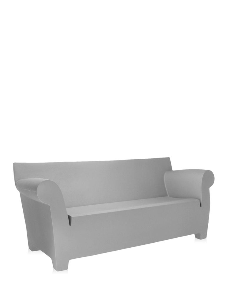 Kartell Bubble Club 2-Seat Sofa in Light Grey by Philippe Starck For ...