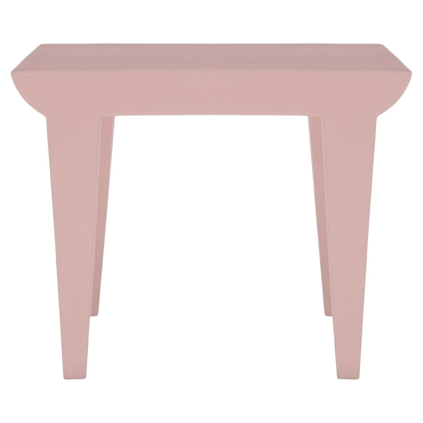 Kartell Bubble Club Side Table in Powder by Philippe Starck