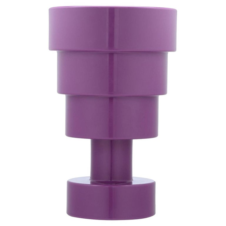 Kartell Calice Stool in Violet by Ettore Sottsass For Sale