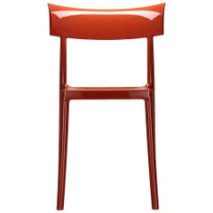 Kartell Cat Walk Chair in Rusty Orange by Philippe Starck with Sergio Schito