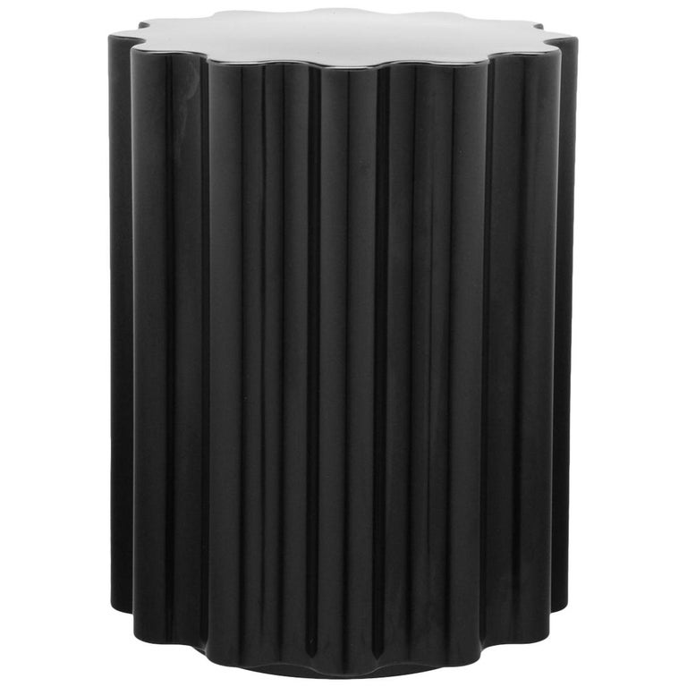 Kartell Colonna Stool in Black by Ettore Sottsass For Sale