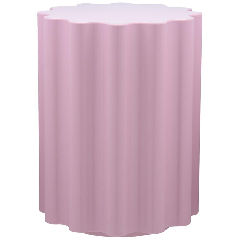 Kartell Colonna Stool in Pink by Ettore Sottsass For Sale