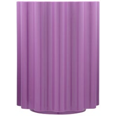 Kartell Colonna Stool in Violet by Ettore Sottsass