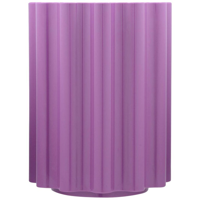Kartell Colonna Stool in Violet by Ettore Sottsass For Sale