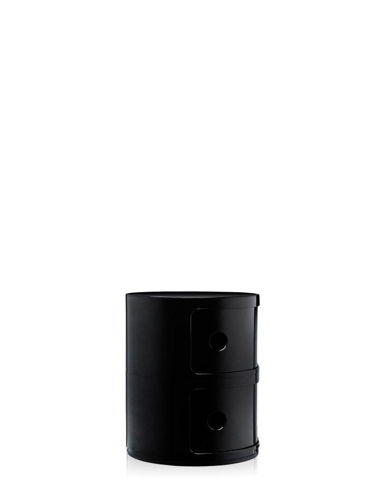 Modern Kartell Componibili 2-Tier Drawer in Black by Anna Castelli Ferrieri For Sale
