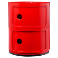 Kartell Componibili 2-Tier Drawer in Red by Anna Castelli Ferrieri