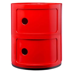 Kartell Componibili 2-Tier Drawer in Red by Anna Castelli Ferrieri