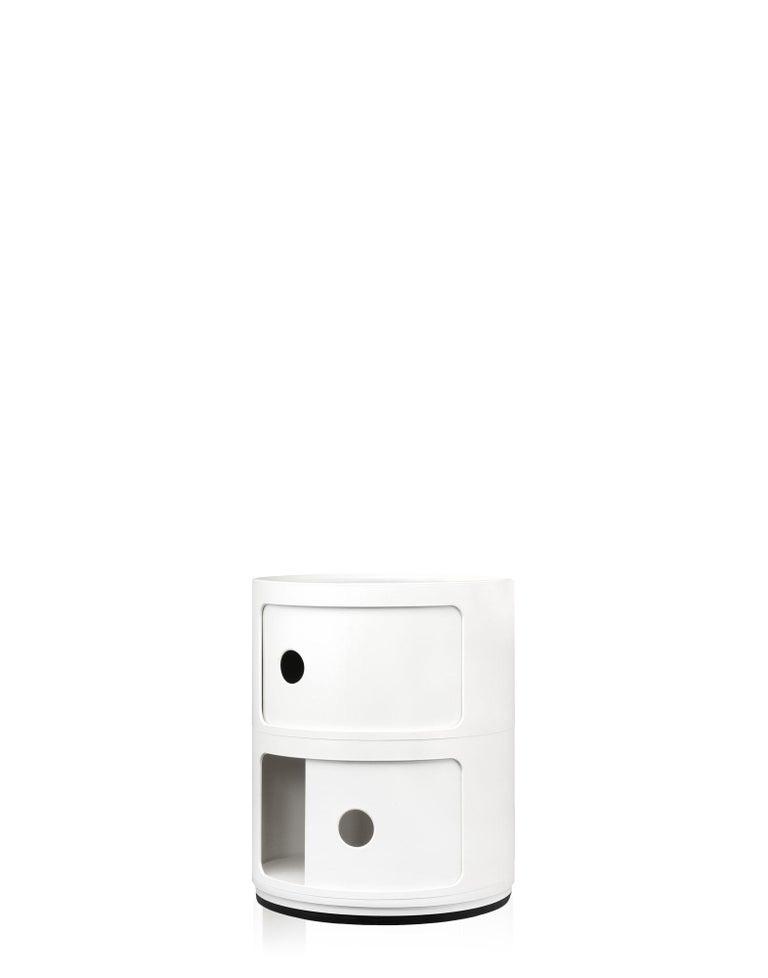 Modern Kartell Componibili 2-Tier Drawer in White by Anna Castelli Ferrieri For Sale