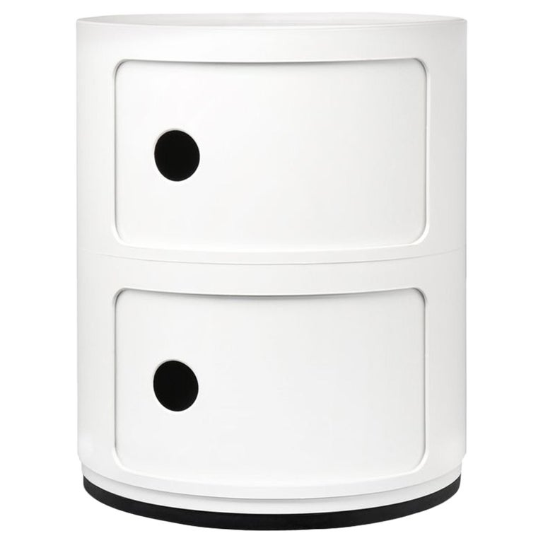 Kartell Componibili 2-Tier Drawer in White by Anna Castelli Ferrieri For Sale