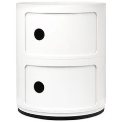 Kartell Componibili 2-Tier Drawer in White by Anna Castelli Ferrieri