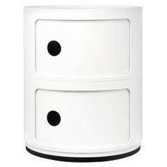 Kartell Componibili 2-Tier Drawer in White by Anna Castelli Ferrieri