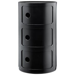 Kartell Componibili 3-Tier Drawer in Black by Anna Castelli Ferrieri