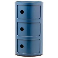Kartell Componibili 3-Tier Drawer in Blue by Anna Castelli Ferrieri
