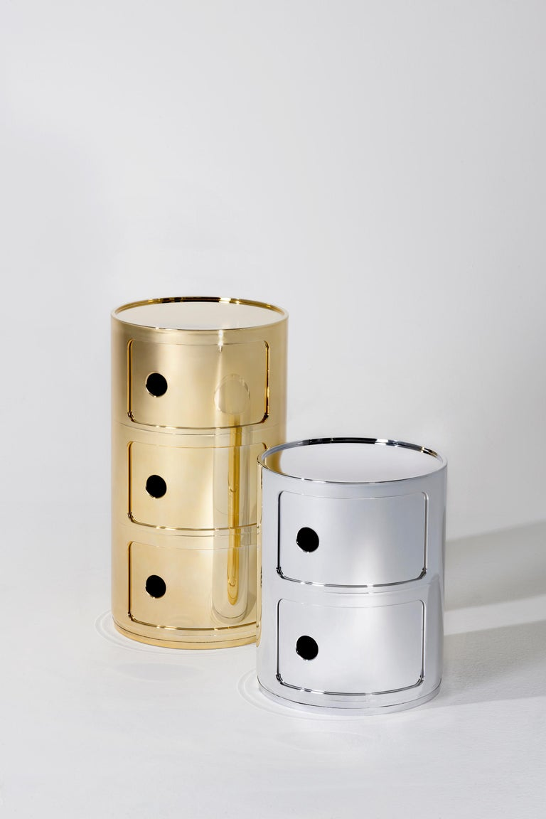 Contemporary Kartell Componibili 3-Tier Drawer in Copper by Anna Castelli Ferrieri For Sale
