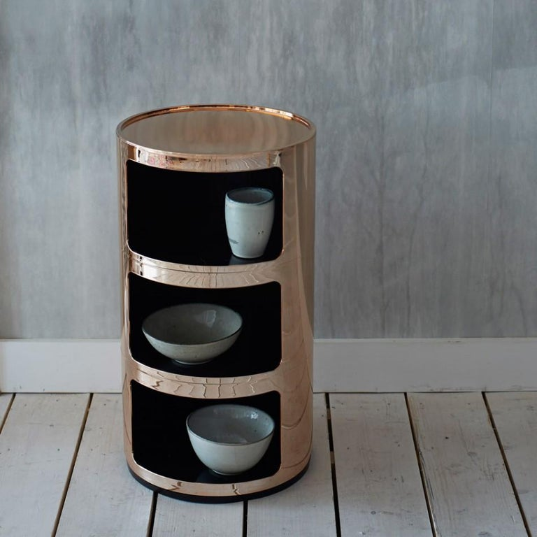Kartell Componibili 3-Tier Drawer in Copper by Anna Castelli Ferrieri For Sale 3