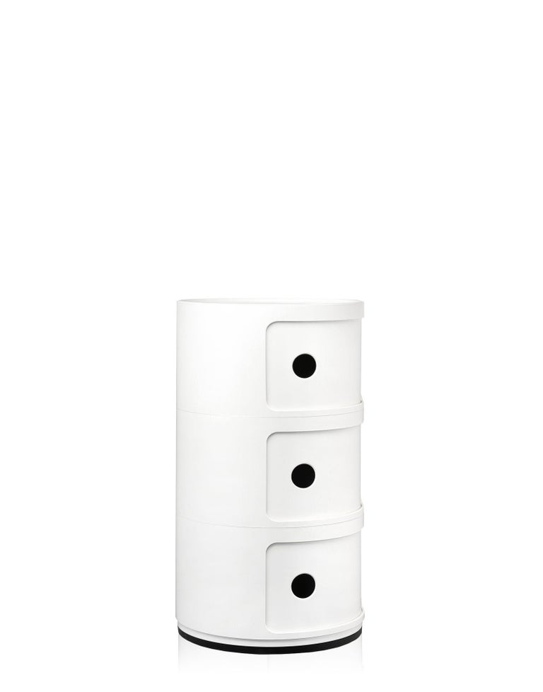 Modern Kartell Componibili 3-Tier Drawer in White by Anna Castelli Ferrieri For Sale