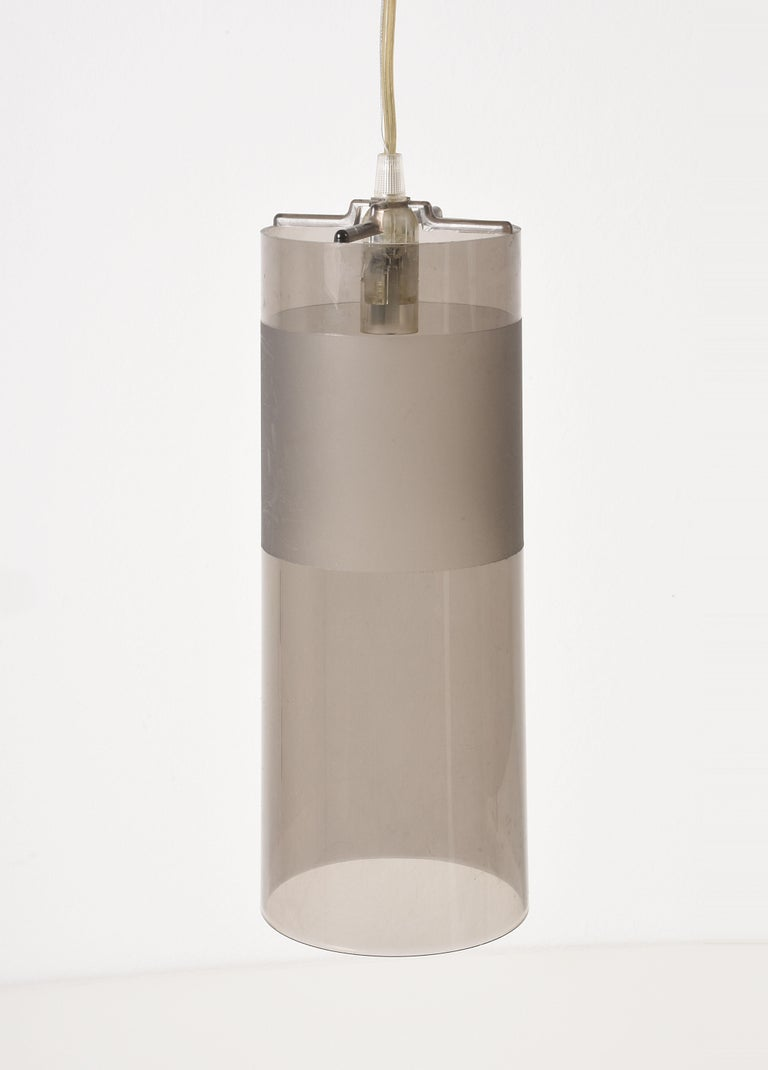 Modern Kartell Easy Suspension Lamp Designed by Ferruccio Laviani, Color Grey, Italy For Sale