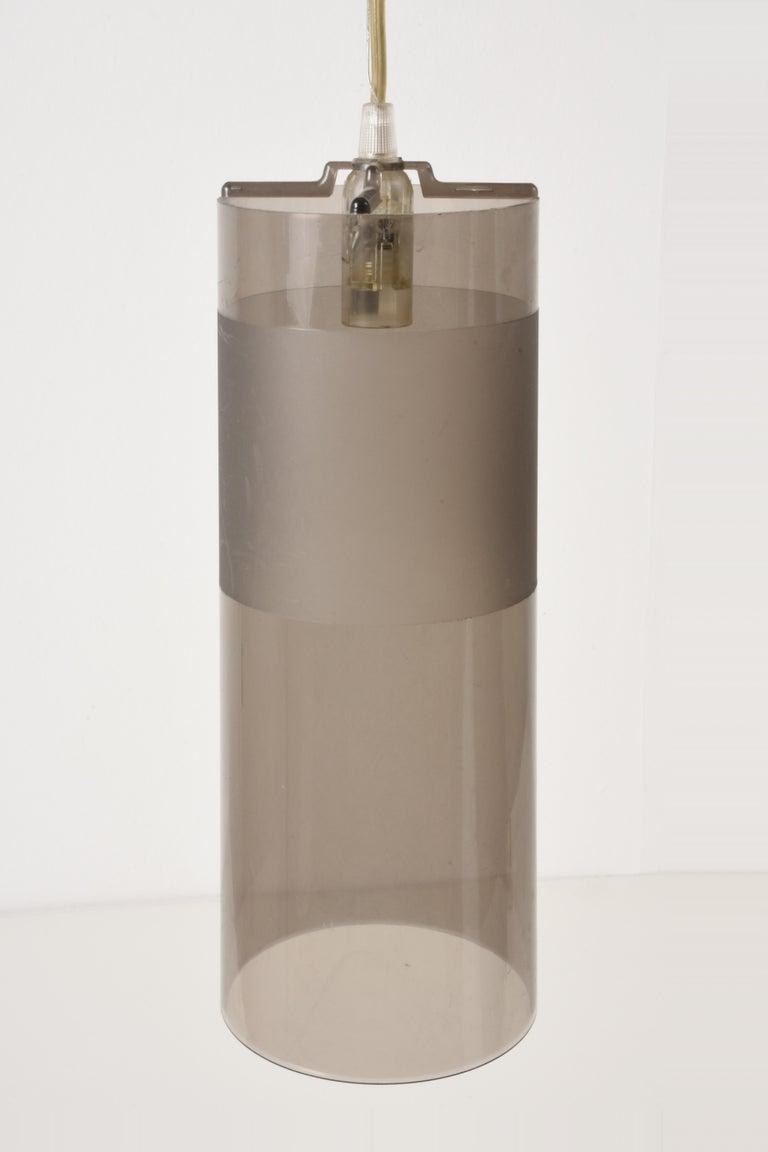 Contemporary Kartell Easy Suspension Lamp Designed by Ferruccio Laviani, Color Grey, Italy For Sale