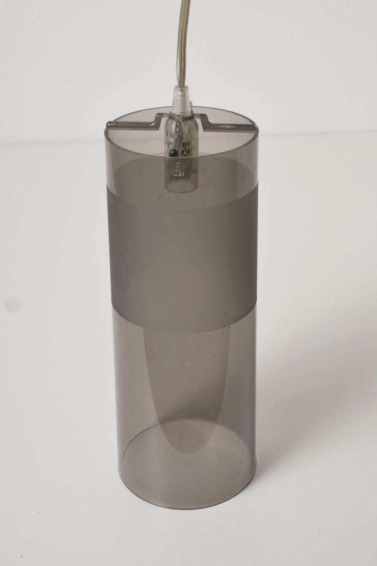 Acrylic Kartell Easy Suspension Lamp Designed by Ferruccio Laviani, Color Grey, Italy For Sale
