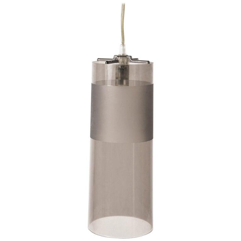 Kartell Easy Suspension Lamp Designed by Ferruccio Laviani, Color Grey, Italy For Sale