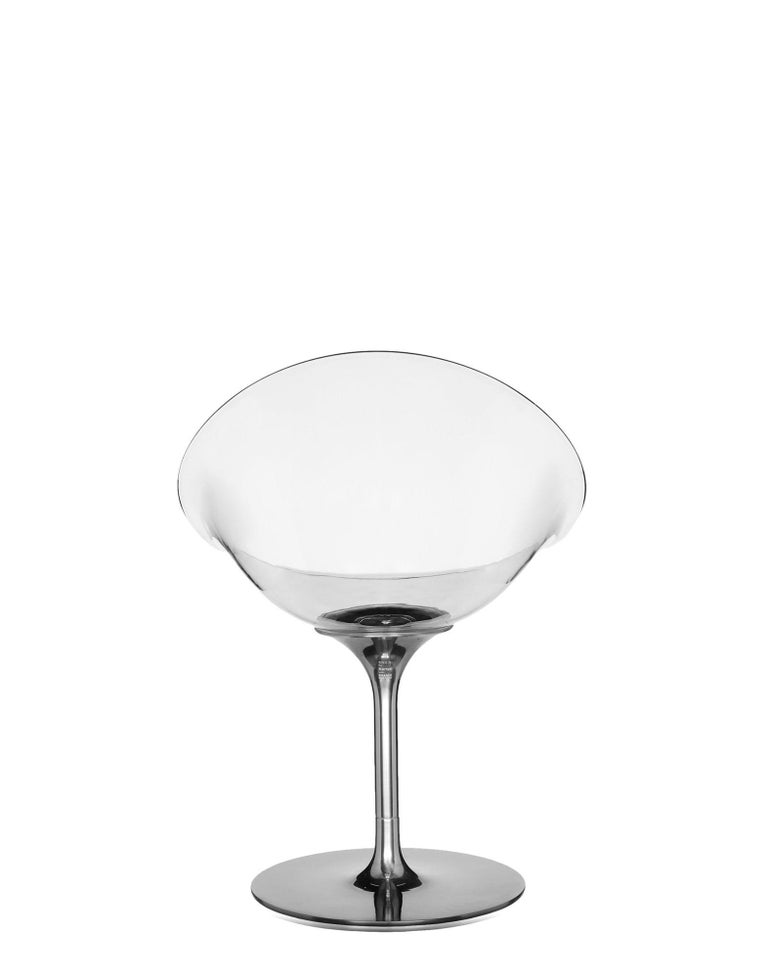 Italian Kartell Eros Swivel Chair in Crystal by Philippe Starck For Sale