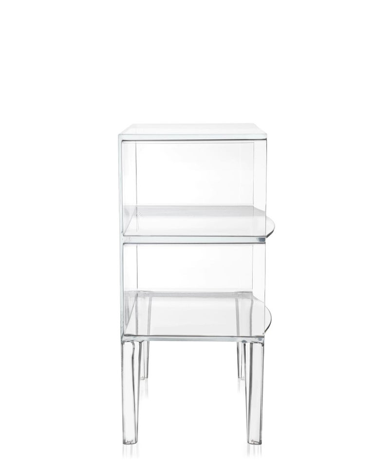 Modern Kartell Ghost Buster Commode in Crystal by Philippe Starck & Eugeni Quitllet For Sale