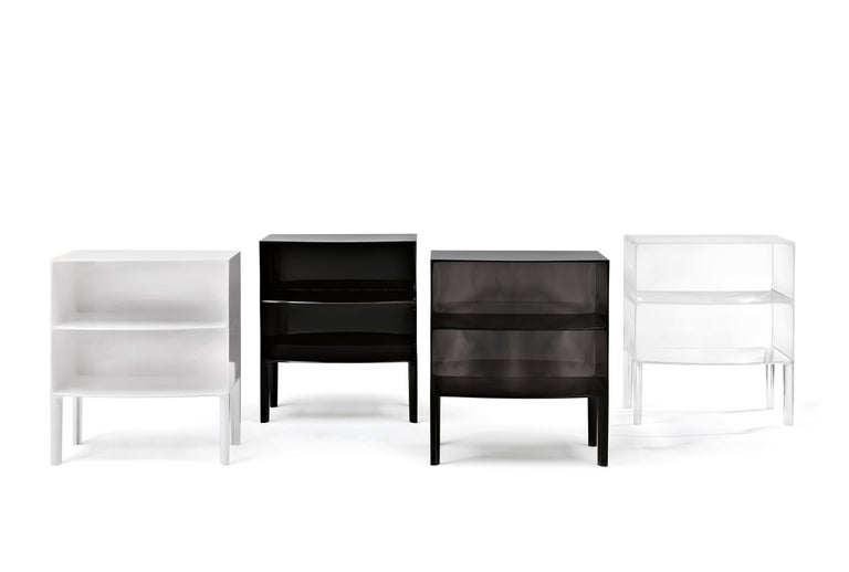 Italian Kartell Ghost Buster Commode in Crystal by Philippe Starck & Eugeni Quitllet For Sale