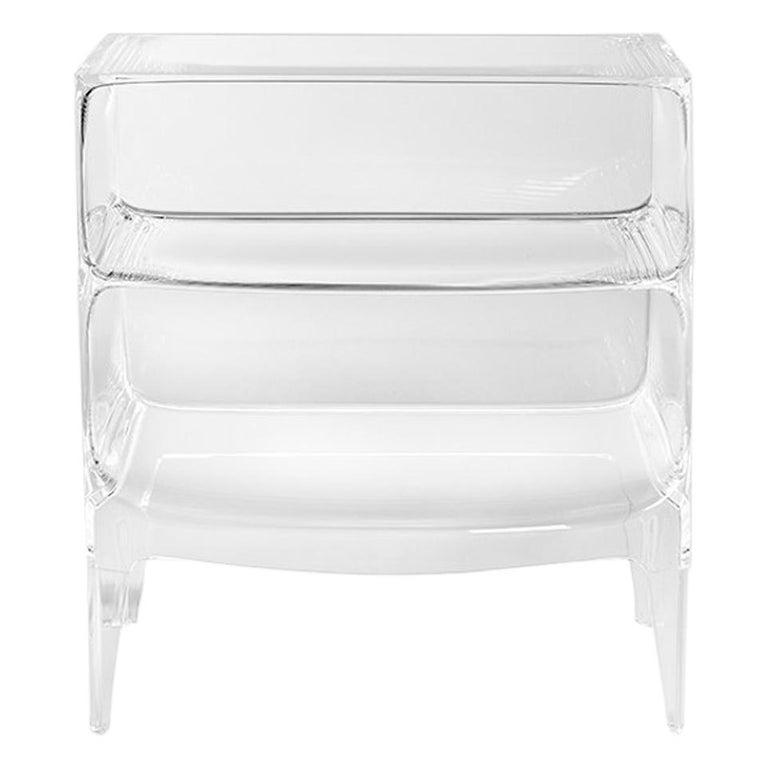 Kartell Ghost Buster Commode in Crystal by Philippe Starck & Eugeni Quitllet For Sale