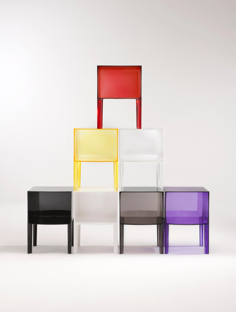Contemporary Kartell Ghost Buster Nightstand in Violet by Philippe Starck & Eugeni Quitllet For Sale
