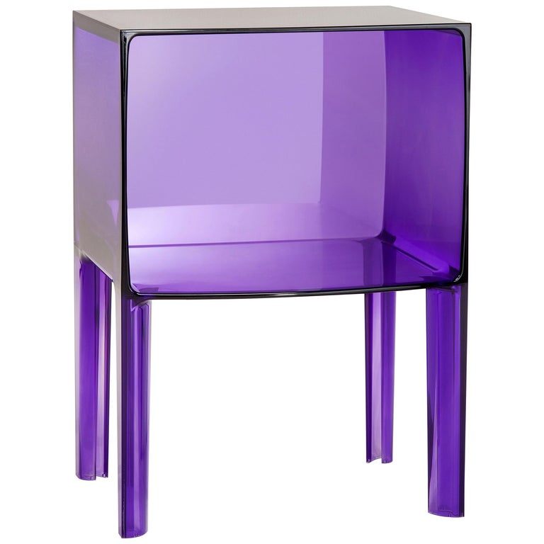 Kartell Ghost Buster Nightstand in Violet by Philippe Starck & Eugeni Quitllet For Sale